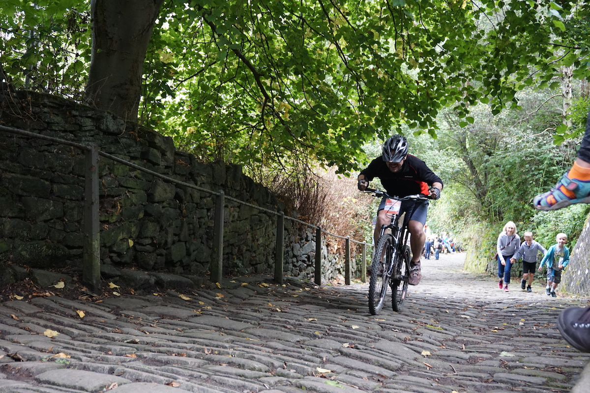 up the buttress cobble hebden bridge cyclocross montsercross uphill race grit mark