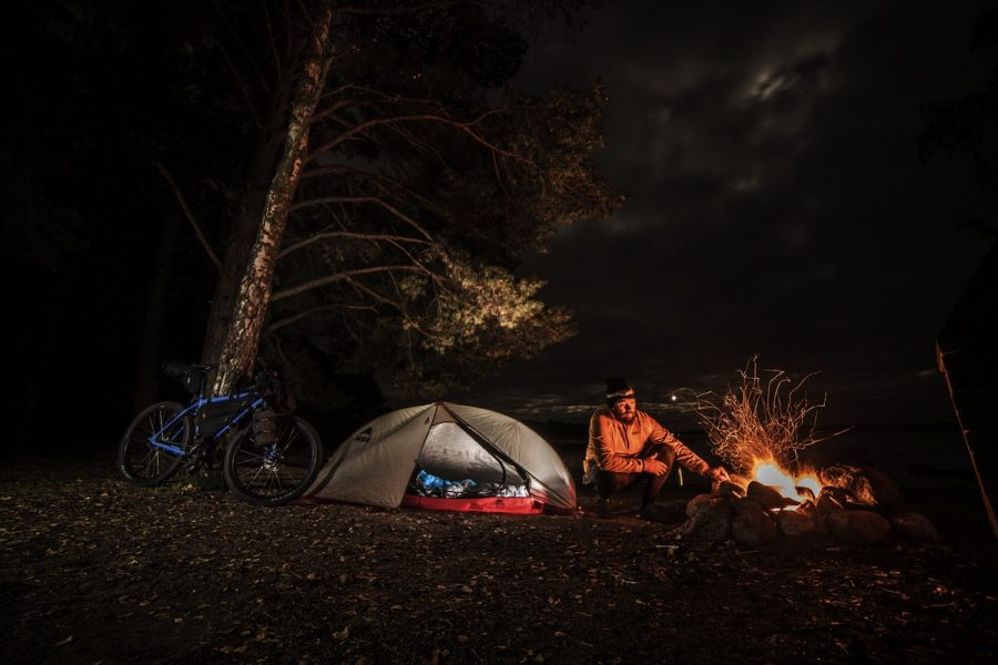 kona unit singlespeed bikepacking finland camping adventure trees