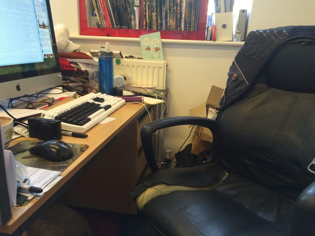 Singletrack towers office chipps desk