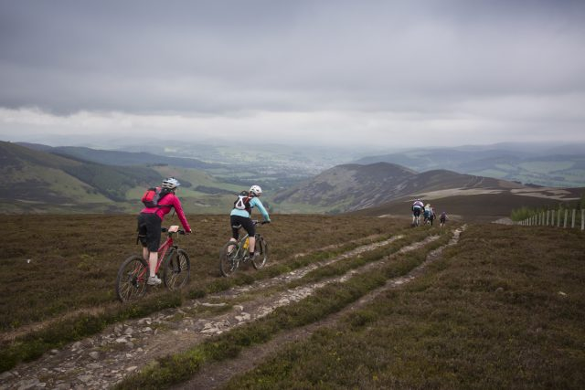 Natural Tweed Rideout descending down Gypsies Glen. Credit: Ian Linton