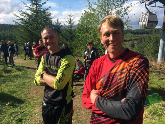 Old School: Mark Weightman 2nd Vet, Russ Harland 1st Vet.