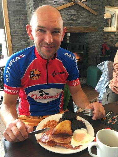 We can't believe Chris Hope did the entire 550 miles on a single fried breakfast!