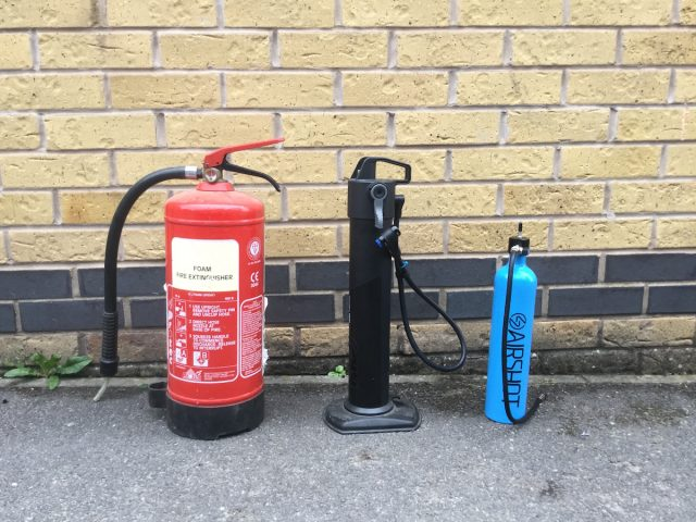 pro tubeless tyre inflator co2 fire extinguisher