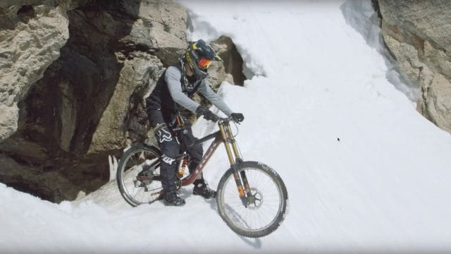 Casey Brown and Cam McCaul crash on Corbet's Couloir.