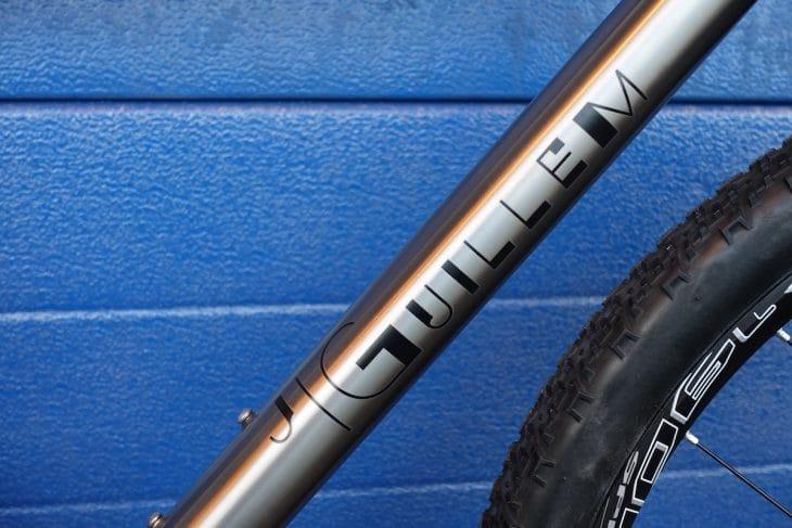 j.guillem titanium gravel bike