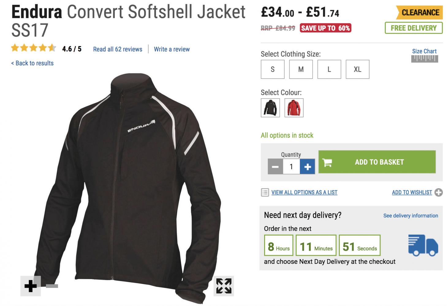 Endura Convert Softshell Jacket