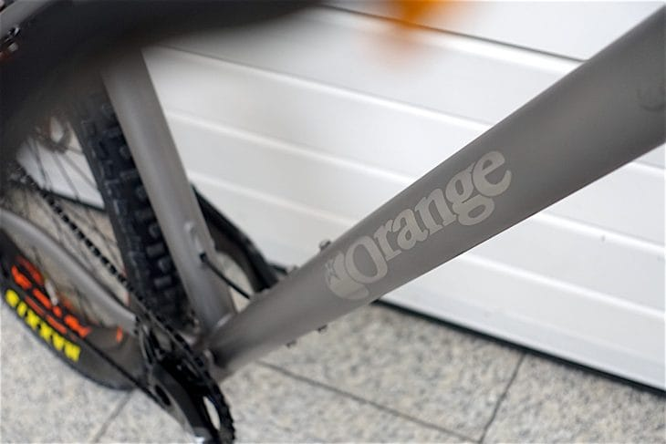 ORANGE t7 titanium hardtail