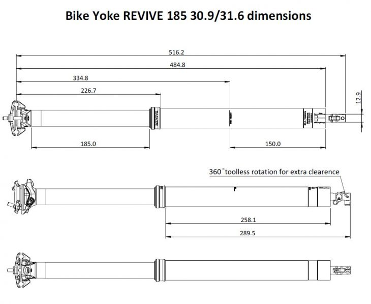 bikeyoke revive dropper post