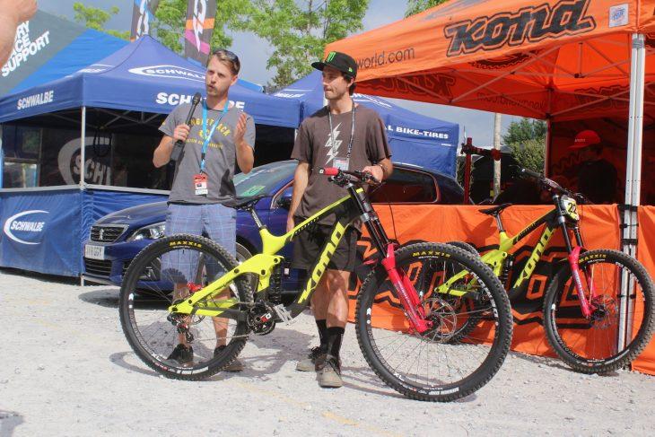 kona operator downhill bike rockshox vivid coil wil connor fearon