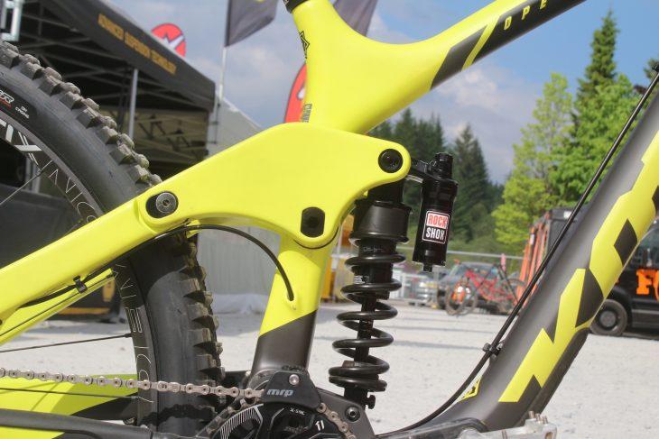 kona operator downhill bike rockshox vivid coil