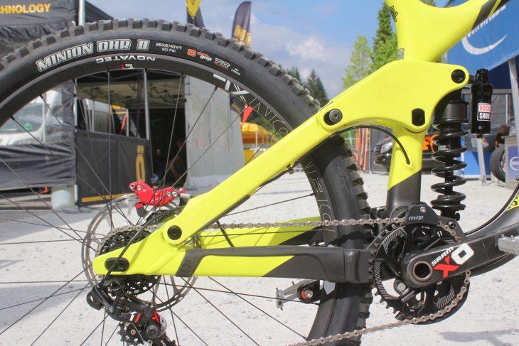 kona operator downhill bike rockshox vivid coil sram x0