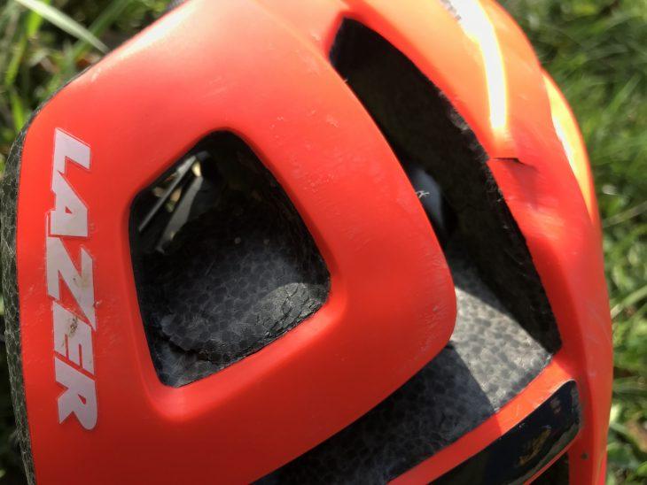 lazer roller helmet mips damage broken