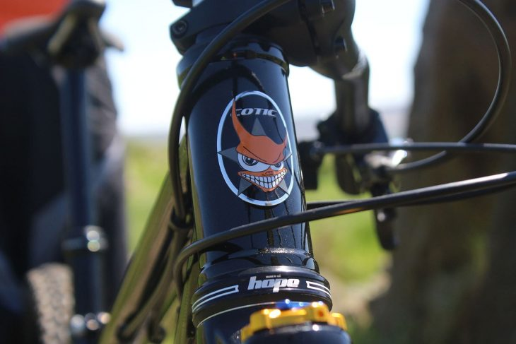 cotic solaris max steel hardtail hope headset