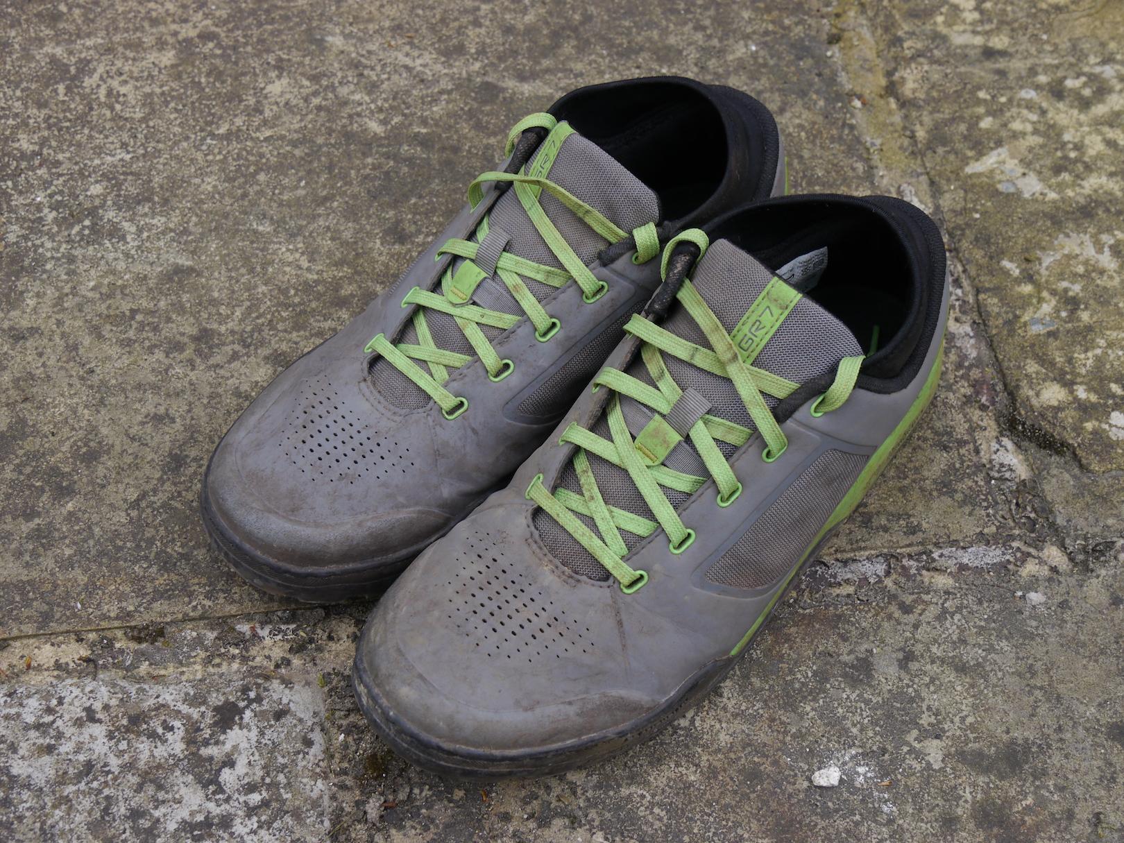 c7d21cc17cdb Review  Shimano GR7 vs GR9 Flat Pedal Shoes - Singletrack Magazine