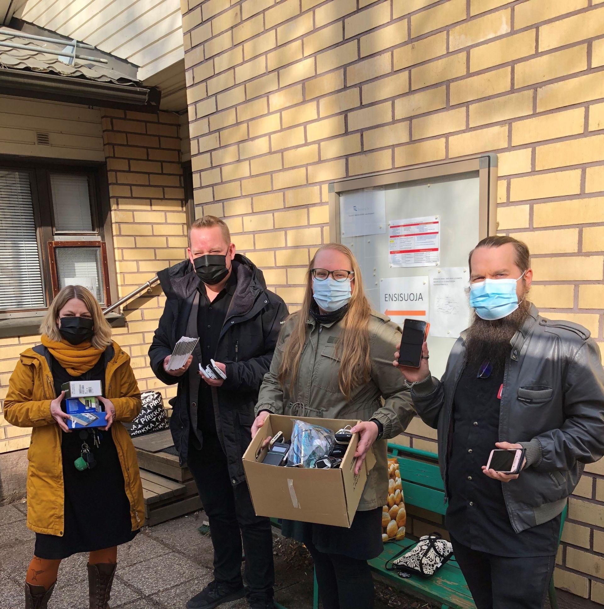 Kuvassa Annika Lappalainen, Vesa Lundberg, Sanna Tenkanen ja Niko Hill