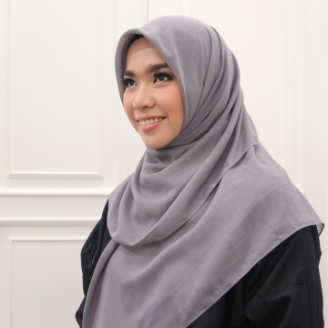 Cotton Voal Dark Grey image