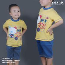 Kaos Anak - Baju Setelan Anak Laki Laki - Setelan Main - Litte Bear
