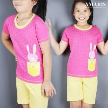 Kaos Anak - Baju Setelan Anak Perempuan - Setelan Main - Bunny