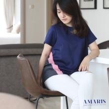 Blouse Wanita - Baju Atasan Cewek - List Lengan Pendek - Z14617