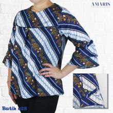 Batik Modern - Blouse Batik - Baju Batik Fashion - Amaris Fashion
