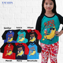 Kaos Raglan Anak 3/4 - Supercool Warna - Amaris fashion
