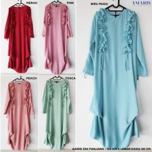 Dress Gamis 334 Rempel Bahu - Gamis Murah - Amaris