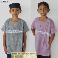 Baju Koko Anak List Dada - Atasan Koko Anak Murah - Amaris