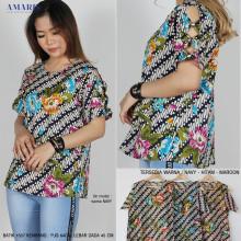 Amaris Blouse Batik 1557 - Batik Kekinian Modern Murah - Amaris