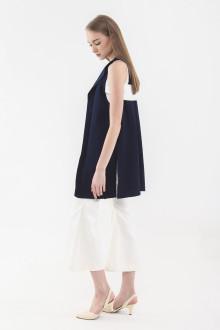 Hana Back Belted Vest - Navy