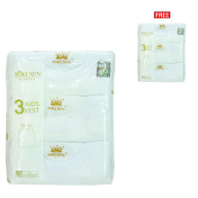 Buy 1 Get 1 Free Tokusen Singlet Dalam Putih  (Isi 3pcs Gratis 3pcs)