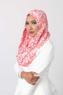 Block Orange Hijab