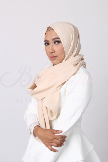 Beige Brown Hijab