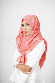 Floral Salmon Hijab
