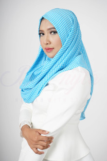Square Blue Hijab