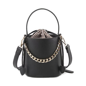 Eden Black Bucket Bag