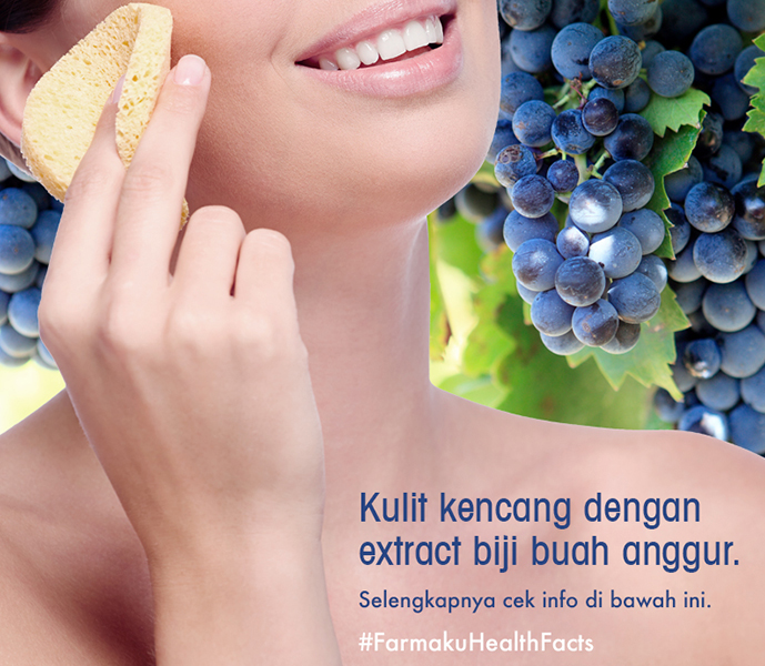 Kulit Kencang Dengan Biji Buah Anggur image