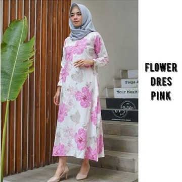 FLOWER DRESS PINK (OP061104) image