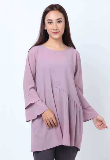 GEE EIGHT PURPLE BLOUSE TULIP (T3248)