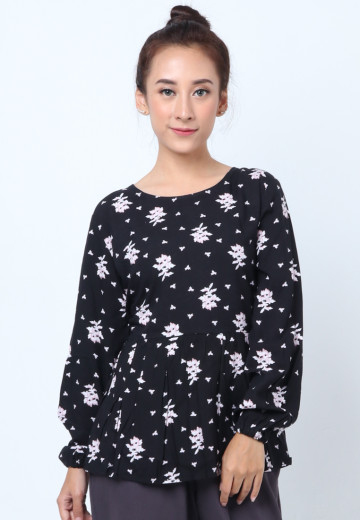 GEE EIGHT TASHA BLACK FLORAL (T3249)