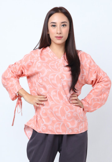 GEE EIGHT PEACH PUKET BLOUSE (SH 341)