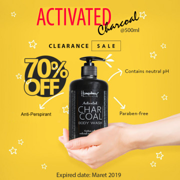 """PROMO Humphrey skin care Activated Charcoal """"Detox"""" Body wash 500ml"""