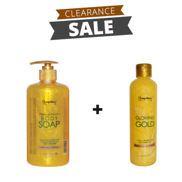 "BUNDLING | Glowing Gold ""Anti Aging"" Body Wash 500ml + Shampoo 250ml"
