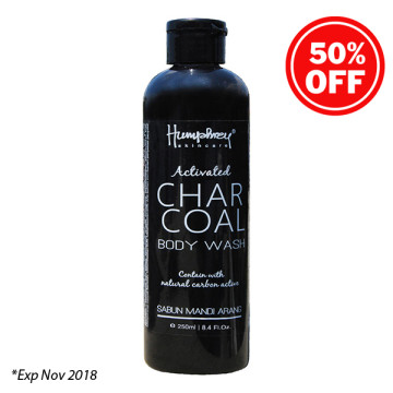 """Humphrey skin care Activated Charcoal """"Detox"""" Body wash 250ml"""