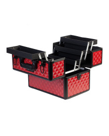Carry On Makeup Case in Red Diamond