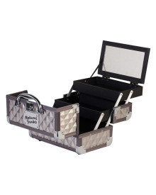 Carry On Makeup Case in Gray Diamond