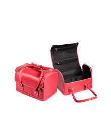 Carry On Soft Makeup Bag in Red Femme