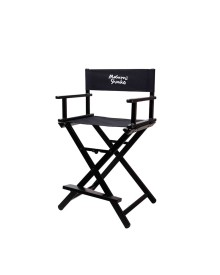 Signature Makeup Chair in Black