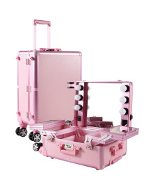 Classic Makeup Case in Signature Pink