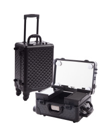 Mini Travelling Makeup Case in Black Diamond