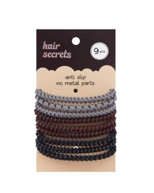 9 pcs Anti Slip Hair Tie